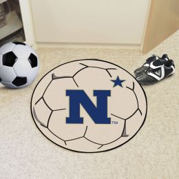 United States Naval Academy Ball Shaped Area rugs (Ball Shaped Area Rugs: Soccer Ball)