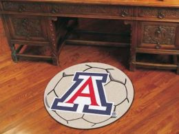 University of Arizona Ball Shaped Area Rugs (Ball Shaped Area Rugs: Soccer Ball)