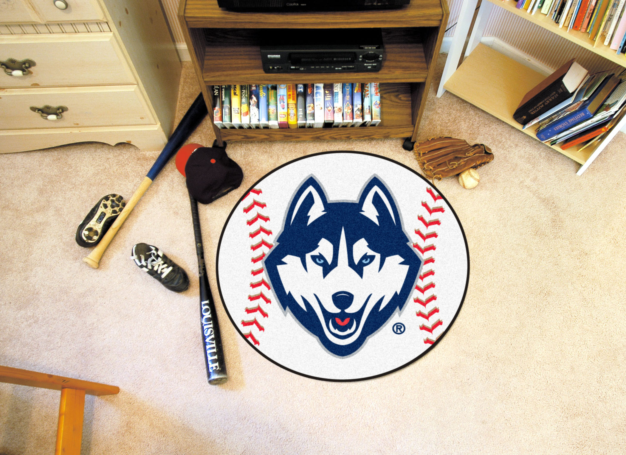University Of Connecticut Ball Shaped Area Rugs (Ball Shaped Area Rugs:  Baseball)