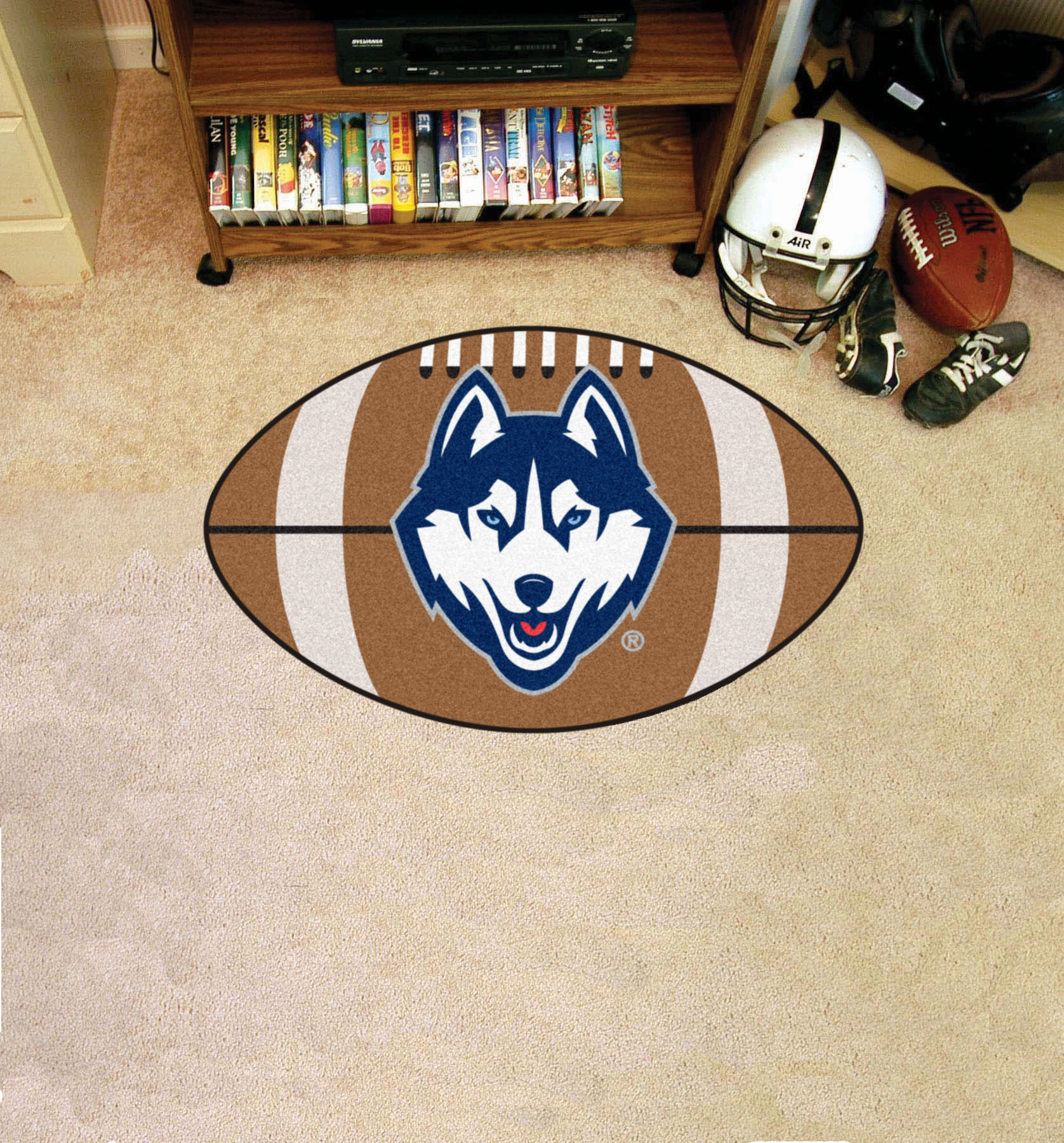 University Of Connecticut Ball Shaped Area Rugs (Ball Shaped Area Rugs:  Football)