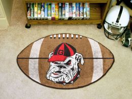 University of Georgia Bulldog Ball Shaped Area Rugs (Ball Shaped Area Rugs: Football)