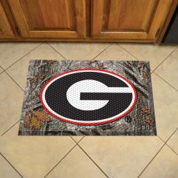 "University of Georgia Scrapper Doormat - 19"" x 30"" Rubber (Field & Logo: Camo & Logo)"
