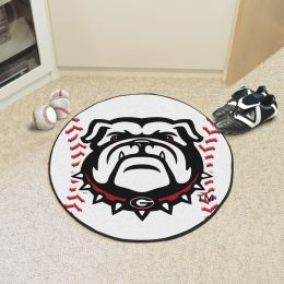 University of Georgia Ball Shaped Area Rugs - Red (Ball Shaped Area Rugs: Baseball)