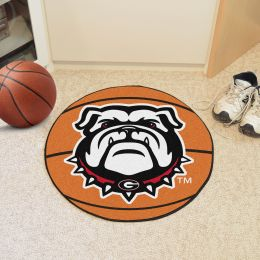 University of Georgia Ball Shaped Area Rugs - Red (Ball Shaped Area Rugs: Basketball)