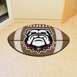 University of Georgia Ball Shaped Area Rugs - Red (Ball Shaped Area Rugs: Football)