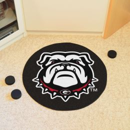 University of Georgia Ball Shaped Area Rugs - Red (Ball Shaped Area Rugs: Hockey Puck)