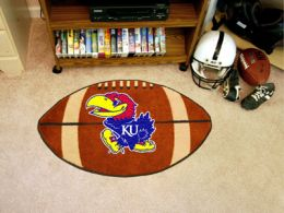 University of Kansas Ball Shaped Area Rugs (Ball Shaped Area Rugs: Football)