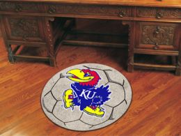 University of Kansas Ball Shaped Area Rugs (Ball Shaped Area Rugs: Soccer Ball)