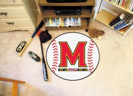 University of Maryland Ball Shaped Area Rugs (Ball Shaped Area Rugs: Baseball)
