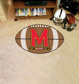 University of Maryland Ball Shaped Area Rugs (Ball Shaped Area Rugs: Football)