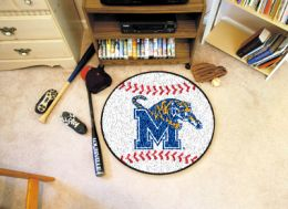 University of Memphis Ball Shaped Area Rugs (Ball Shaped Area Rugs: Baseball)