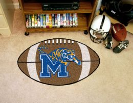 University of Memphis Ball Shaped Area Rugs (Ball Shaped Area Rugs: Football)