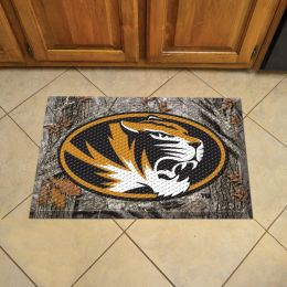 "University of Missouri Scrapper Doormat - 19"" x 30"" Rubber (Field & Logo: Camo & Logo)"