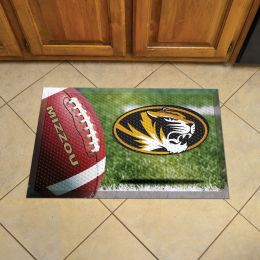 "University of Missouri Scrapper Doormat - 19"" x 30"" Rubber (Field & Logo: Football Field)"