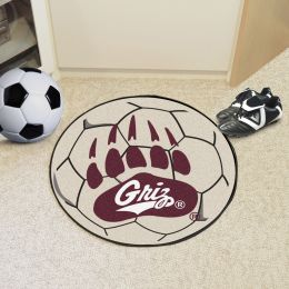 University of Montana Ball Shaped Area rugs (Ball Shaped Area Rugs: Soccer Ball)
