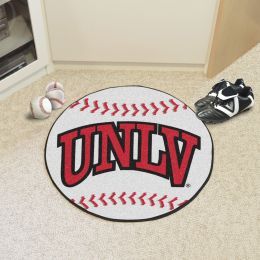 University of Nevada Las Vegas Ball Shaped Area rugs (Ball Shaped Area Rugs: Baseball)