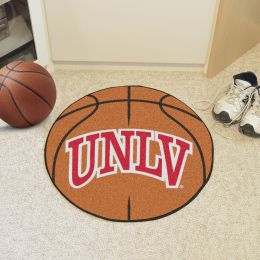University of Nevada Las Vegas Ball Shaped Area rugs (Ball Shaped Area Rugs: Basketball)