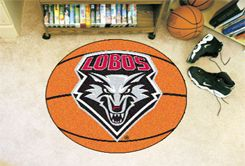 University of New Mexico Ball Shaped Area Rugs (Ball Shaped Area Rugs: Basketball)
