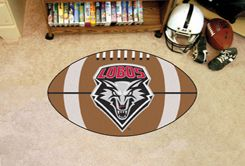 University of New Mexico Ball Shaped Area Rugs (Ball Shaped Area Rugs: Football)