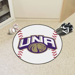University of North Alabama Ball Shaped Area rugs (Ball Shaped Area Rugs: Baseball)