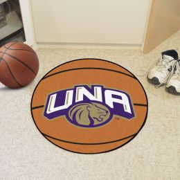 University of North Alabama Ball Shaped Area rugs (Ball Shaped Area Rugs: Basketball)