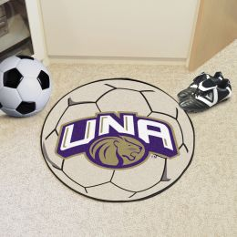 University of North Alabama Ball Shaped Area rugs (Ball Shaped Area Rugs: Soccer Ball)