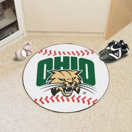 University of Ohio Ball Shaped Area OUgs (Ball Shaped Area Rugs: Baseball)