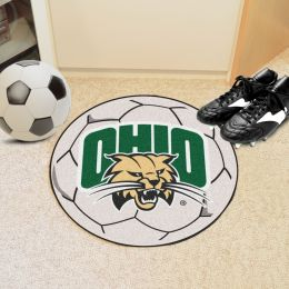 University of Ohio Ball Shaped Area OUgs (Ball Shaped Area Rugs: Soccer Ball)