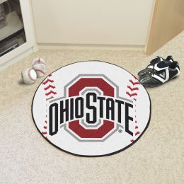 Ohio State University Ball Shaped Area rugs (Ball Shaped Area Rugs: Baseball)
