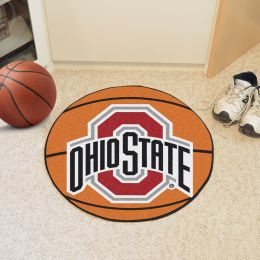 Ohio State University Ball Shaped Area rugs (Ball Shaped Area Rugs: Basketball)
