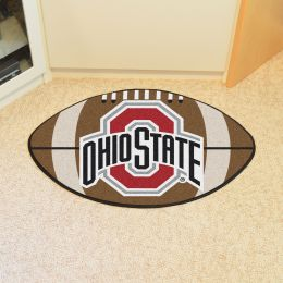 Ohio State University Ball Shaped Area rugs (Ball Shaped Area Rugs: Football)