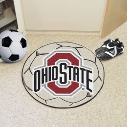 Ohio State University Ball Shaped Area rugs (Ball Shaped Area Rugs: Soccer Ball)