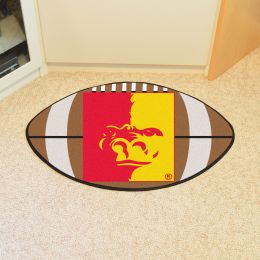 Pitt State University Ball Shaped Area rugs (Ball Shaped Area Rugs: Football)