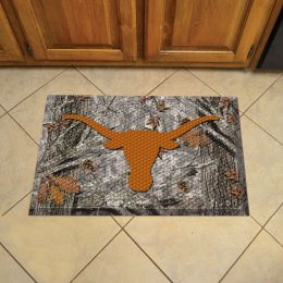 "University of Texas Scrapper Doormat - 19"" x 30"" Rubber (Field & Logo: Camo & Logo)"
