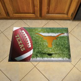 "University of Texas Scrapper Doormat - 19"" x 30"" Rubber (Field & Logo: Football Field)"
