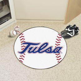 University of Tulsa Golden Hurricanes Ball Shaped Area Rugs (Ball Shaped Area Rugs: Baseball)