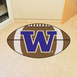 University of Washington Ball Shaped Area rugs (Ball Shaped Area Rugs: Football)