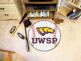 University of Wisconsin–Stevens Point Ball Shaped Area Rugs (Ball Shaped Area Rugs: Baseball)