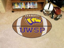 University of Wisconsin–Stevens Point Ball Shaped Area Rugs (Ball Shaped Area Rugs: Football)
