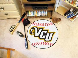 Virginia Commonwealth University Ball Shaped Area Rugs (Ball Shaped Area Rugs: Baseball)