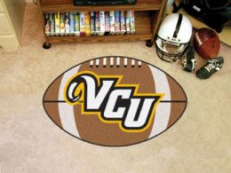 Virginia Commonwealth University Ball Shaped Area Rugs (Ball Shaped Area Rugs: Football)