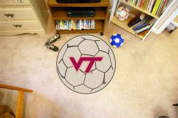 Virginia Tech Ball Shaped Area Rugs (Ball Shaped Area Rugs: Soccer Ball)