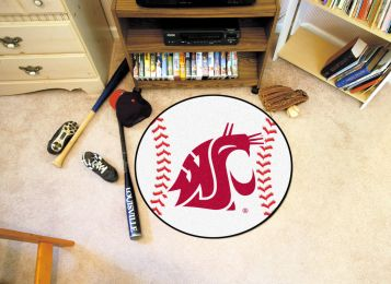 Washington State University Ball Shaped Area Rugs (Ball Shaped Area Rugs: Baseball)