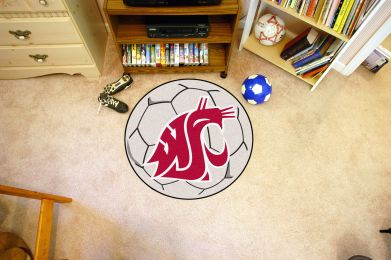 Washington State University Ball Shaped Area Rugs (Ball Shaped Area Rugs: Soccer Ball)