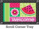 Indoor & Outdoor Watermelon Welcome MatMate Doormat