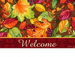 Indoor & Outdoor Insert Doormat - Welcome Leaves (Doormat or Flag: Doormat)