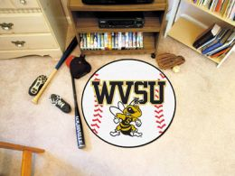 West Virginia State University Ball Shaped Area Rugs (Ball Shaped Area Rugs: Baseball)