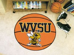 West Virginia State University Ball Shaped Area Rugs (Ball Shaped Area Rugs: Basketball)