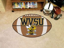 West Virginia State University Ball Shaped Area Rugs (Ball Shaped Area Rugs: Football)