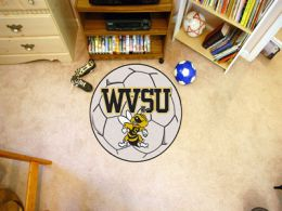 West Virginia State University Ball Shaped Area Rugs (Ball Shaped Area Rugs: Soccer Ball)